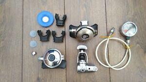 Scuba Diving vintage regulators spares job lot. Aqualung /Scubapro/ WIKA.