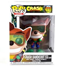 Funko Pop! Games Crash Bandicoot Scuba Gear #420 Vinyl Action Figure In Stock