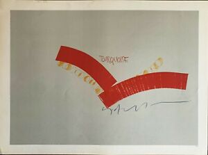 SERGIO DANGELO serigrafia Tourquoise  62x46  firmata numerata edizioni La Querce