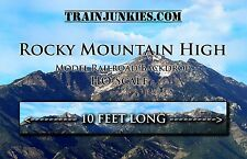 "TrainJunkies HO Scale ""Rocky Mountains w/Clouds"" Model Railroad Backdrop120X18"""