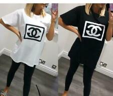 Womens Short Sleeve Summer Coco Glen Logo T-Shirt Tee Ladies Print Fashion Top