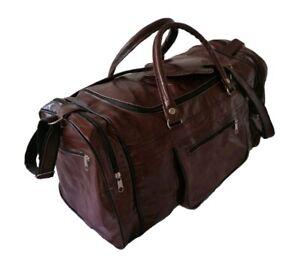 Echte Leder Tasche Vintage Sporttasche travel Gym Reisetasche Weekender 40x20
