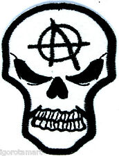 New Skull Biker Rock Punk Embroidered Iron on Patches Applique Hole Cover Patch