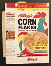 Vintage 1967 Brazil Kellogg's Corn Flakes Unused Cereal Box, Battle Ship Cut-out