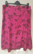 WHITE STUFF SUMMER 100%COTTON  FLORAL PINK SKIRT UK10 NICE CONDITION