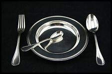 """CHRISTOFLE SPATOURS FRANCE BABY SET PLATE SILVER PLATED 6.1/2"""" PORRIDGE PLATE"""