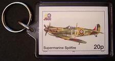 RAF SUPERMARINE SPITFIRE FIghter WWII Aircraft Stamp Keyring