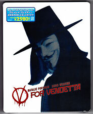 V FOR VENDETTA JAPAN BLU-RAY STEELBOOK NEU & OVP SEALED SOLD OUT DEUTSCHER TON