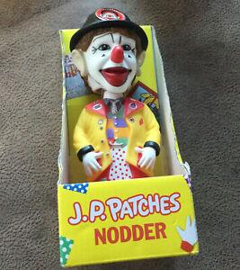 J. P. Patches Nodder By Archie McPhee Bobble head Figure New Clown TV Show