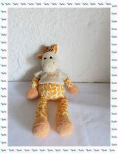 H - Doudou Peluche Girafe Orange Jaune T-shirt Beige  Baby Nat