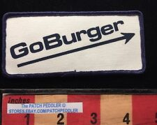 Vtg 1980s Patch ~ Go Burger Goburger Hamburger Food Truck Or Fast Food ? 625 xe