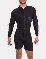 Barcode Berlin > Union Suit Piero Noir/Bleu 91737/105 Gay Sexy Offre Soldes