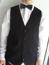 "Any Mens Waiters-Formal BLACK Silk Waistcoat-Size 34""-64"" Chest>P&P2UK>1st Class"