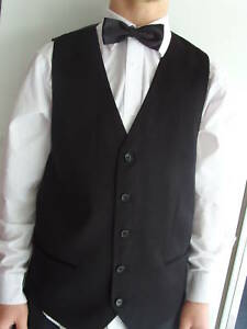 "Any Mens Waiters-Formal BLACK Silk Waistcoat-Size 34""-60"" Chest>P&P2UK>1st Class"