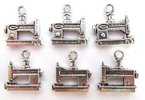 20 Little Sewing Machine Silver Plated Charm/Love To Sew Scrapbooking/tag K10
