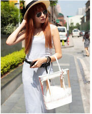 Bag in Bag Sweet Jelly Woman Clear Transparent Shoulder Bag PVC Tote Handbag HOT