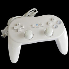 White Pro Classic Game Controller Remote For Nintendo Wii