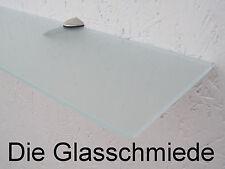 Glasregal 70 x 12 cm satiniert Wandregal Glasablage Badregal Badezimmerregal