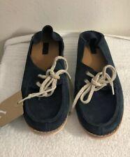 OluKai Women's Shoes - Moku Size W6 - Suede Blue