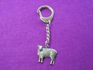 Sheep Silver Pewter Keyring