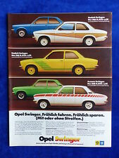 Opel Kadett Ascona Swinger - Werbeanzeige Reklame Advertisement 1975 __ (813