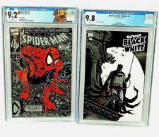 Spider-Man #1 Silver Edition Variant Todd McFarlane CGC 9.2 & Batman #4 CGC 9.8
