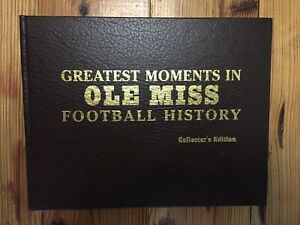Greatest Moments in OLE MISS Football History Signed By Coach Vaught & Cutcliffe