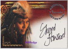 2002 THE SCORPION KING AUTO: SHERRI HOWARD/QUEEN ISIS #A3 AUTOGRAPH OLYMPIC GOLD