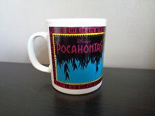 Vintage Disney Staffordshire tableware Pocahontas 3.5 inches tall mug cup (2)