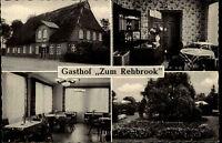 REHBROOK Tremsbüttel AK Gasthof Mehrbild-AK ~1950/60 ungelaufen alte Postkarte
