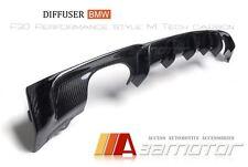 P Style Carbon Fiber Diffuser Quad for BMW F30 F31 3-Series M Sport Bumper