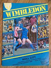 08/01/1983 Wimbledon Vs Hull City Division Four Football Match Programme