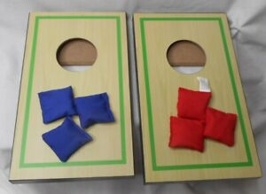 Desktop Bean Bag Toss Game set of 2 classic Handsome Wooden Game with 6 bags