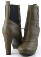 $310 JUICY COUTURE RADLEY Mouse Grey Grainy Goat Leather Designer Ankle Boots 7