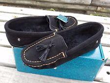 $79 new EMU Kuraby Women's Black Sheepskin Moccasins shoes US 8, EU 39