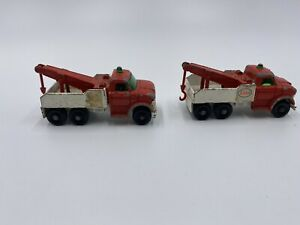 Vintage Lesney Matchbox No. 71 ESSO Ford Heavy Wreck Truck Lot Of 2
