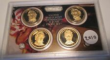 2010 S Presidential Dollar Proof Set U.S. Mint W Box COA 10 President Dollar