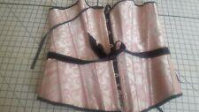 """Basque Pretty in Pink & Black boned 30""""waist"""
