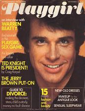 PLAYGIRL November 1976 WARREN BEATTY Ted Knight BEAU LAURENCE centerfold