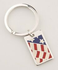 """Tiffany & Co. Sterling American Flag Key Ring w/ """"The West Wing"""" Engraving Rare!"""