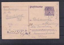 Ganzsache an die Invalidenentschädigungskommission gelaufen Wien 1924