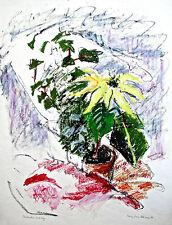 Mary Cane Robinson Modernist Still Life  Pointsettia and Ivy