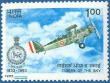 INDIA 1992 Squadron Indian Air Force Westland Biplane Aircraft Aviation Stamp