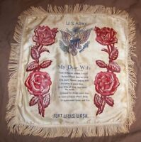 Vintage U.S. Army Pillow Cover from Fort Lewis