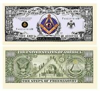 Freemason Masonic Million Dollar Bill - Pack of 100