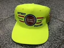 VTG VINTAGE Detroit Pistons NBA SNAPBACK HAT CAP FASHION NEON pink NEW WITH  TAGS 80ef0b758229