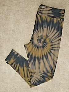 LuLaRoe OS or TC2 ~ Black Sand & Brown Tie Dye ~ Super Rare ~ Leggings
