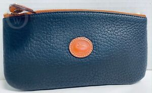 VINTAGE*NWOT*Dooney & Bourke*Navy Blue*Cosmetic/Utility Case/Pouch-Makeup Case