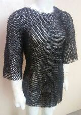 CHAINMAIL SHIRT ARMOR LARGE 10MM FLAT RIVETED W WASHER HAUBERGEON MEDIEVA