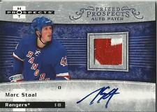 2007-08 Hot Prospects #253 Marc Staal Autograph Patch RC 103/199 Rangers